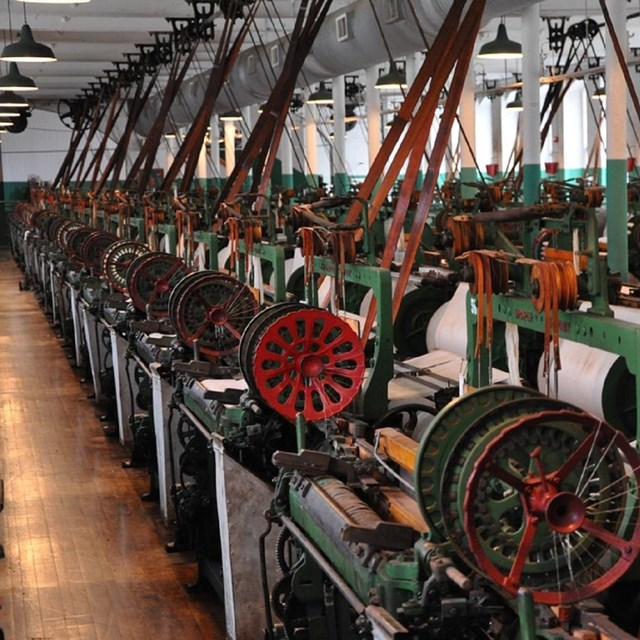 View of the machines in the mill. Courtesy NPS.