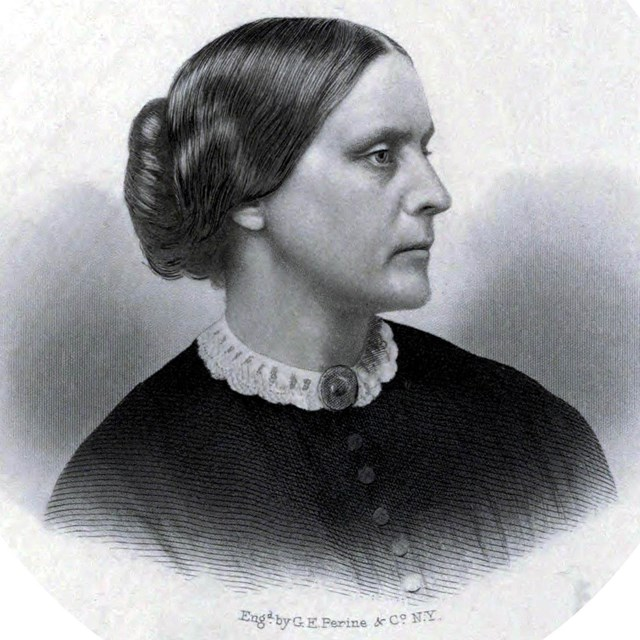 Portrait of Susan B. Anthony, c. 1855. Public Domain