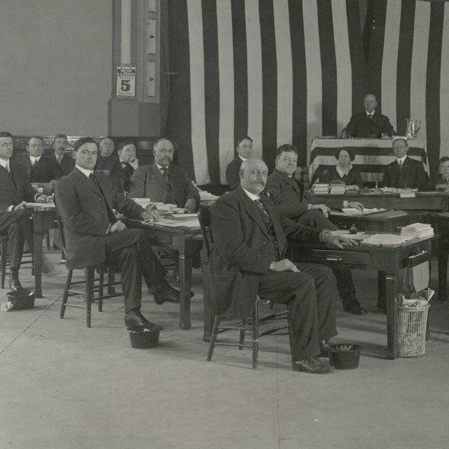 1st Territorial Legislature. Courtesy Archives of Alaska not public domain