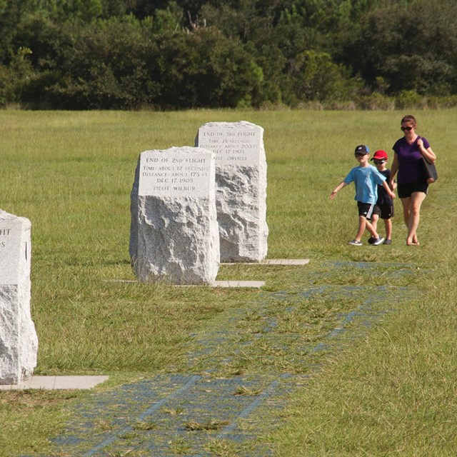 Wright brothers' flight markers