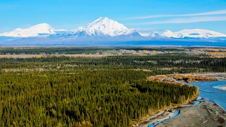 The Wrangell and St. Elias Ranges contain some of the largest volcanoes in North America.
