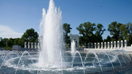 View of Fountain inside the Memorial