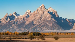 Photo of the Teton Range in Grand Teton National Park