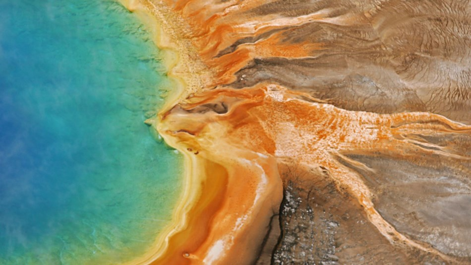 Prismatic colors in a hot spring.