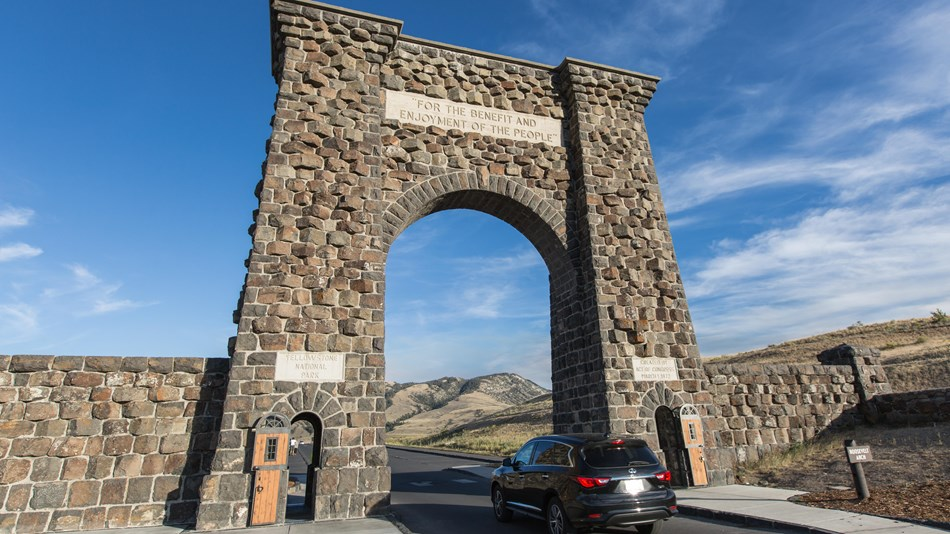 A large stone arch