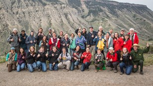 Group photo from the Mammoth Hot Springs Instameet on May 20, 2016