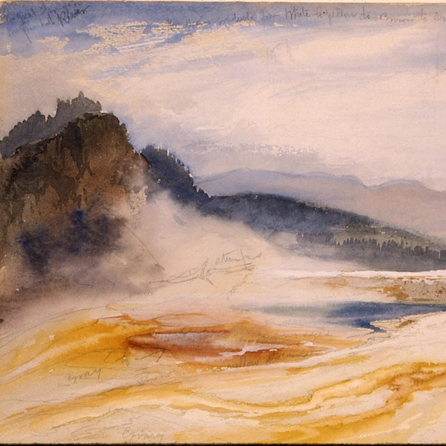 Thomas Moran painting titled