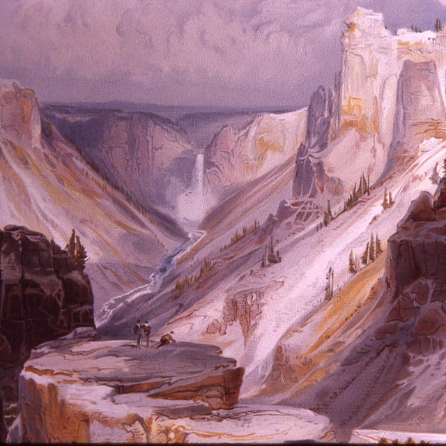 Thomas Moran's painting of the Grand Canyon of the Yellowstone River
