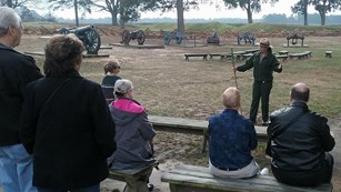 Park Ranger giving a tour