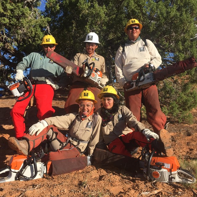 Ancestral Lands Conservation Corps students