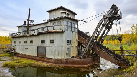 Coal Creek Dredge with fall colors