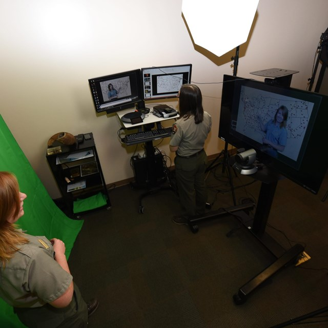 image of distance learning studio