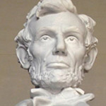Sculpture of Abraham Lincoln at Lincoln Memorial