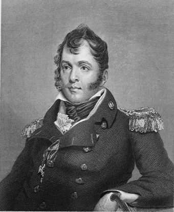 Portrait of Oliver Hazard Perry in naval uniform: jacket with epaulets