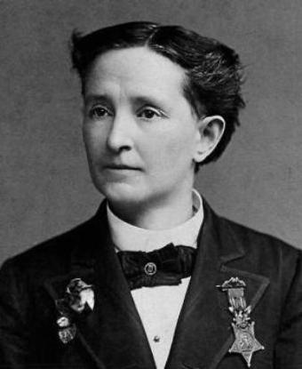 Photo of Dr. Mary Edwards Walker wearing her Medal of Honor