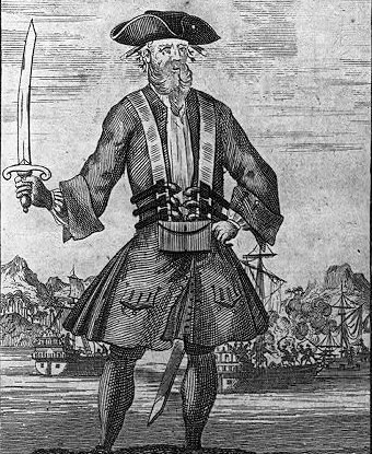 1725 engraving of Blackbeard.