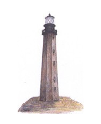Artist rendition of 1803 Cape Hatteras Lighthouse
