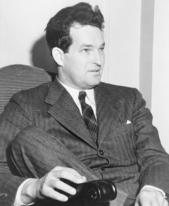 Black and white photo of a seated Paul Green, 1941