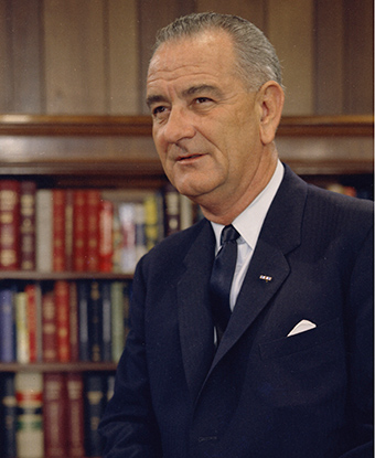 Portrait of President Lyndon Johnson