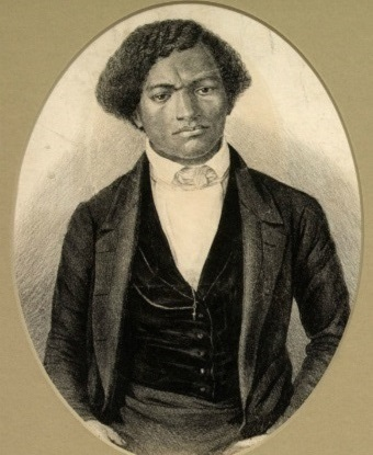 A drawing of Frederick Douglass as a young man.
