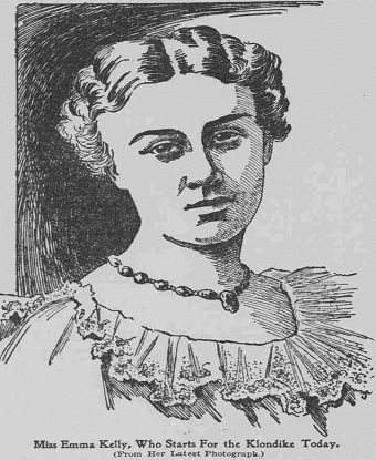 Line drawn portrait of a Victorian woman