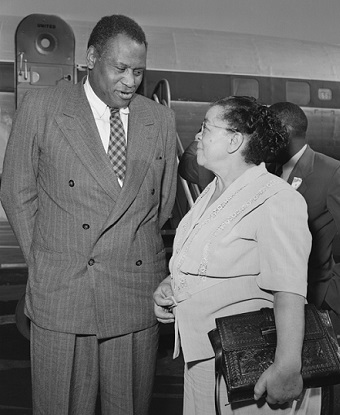 Bass and Paul Robeson (1949)
