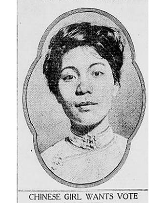 Photo of Mabel Lee from the New York Tribune article in 1912