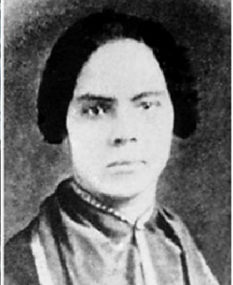 Black and white image of Mary Ann Shadd Cary