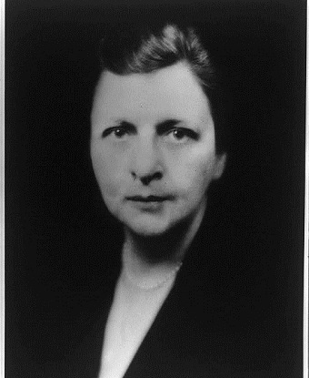 Black and white close-up photo of Frances Perkins.