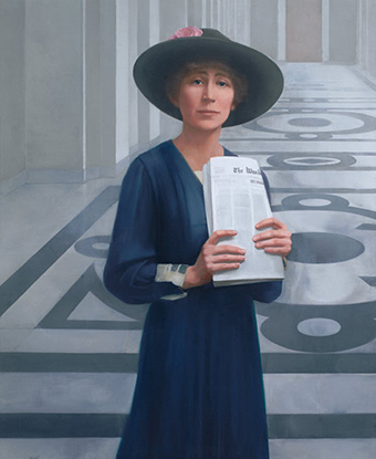 Portrait of Jeannette Rankin by Sharon Sprung. Collections of the US House of Representatives