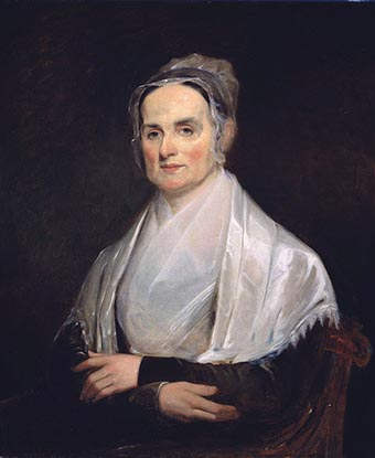 Portrait of Lucretia Mott. From Smithsonian Portrait Gallery Collection