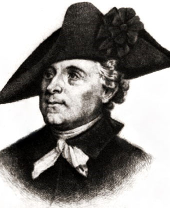Head and shoulders portrait of Isaac Huger in cockade hat