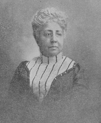 A black and white portrait of Josephine St. Pierre Ruffin.