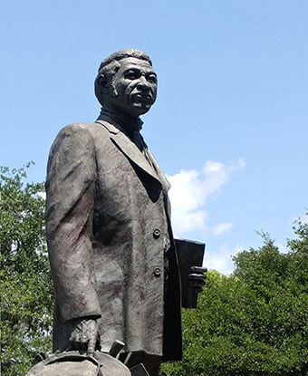 Photo of the Denmark Vesey Monument in Charleston, South Carolina