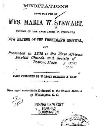 Front page of Stewart's