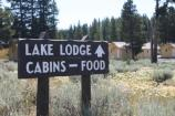 Lake Hotel, sign for cabins