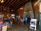 Old Faithful Lodge, lobby with fireplace