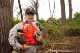 Ranger Gordon Dietzman with rescued herons.