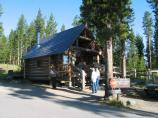Log Registration Building at Indian Creek Campground