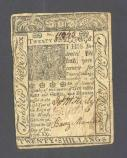 Delaware Currency 20 Shillings