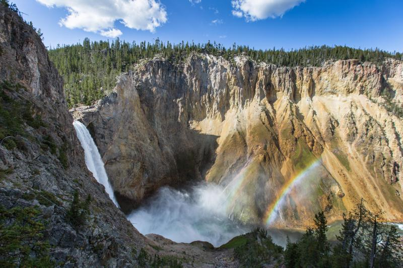 Yellowstone national park create webquest double rainbow at the lower falls of the yellowstone river sciox Images