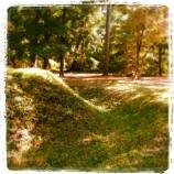 Earthwork and trench at Fort Raleigh National Historic Site