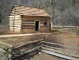 Newly restored log cabin at Abraham Lincoln Boyhood Home at Knob Creek