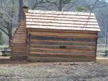 Rear of log cabin at Knob Creek