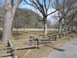 Photo of the split rail fence at Abraham Lincoln Boyhood Home at Knob Creek