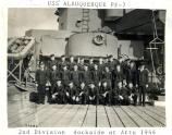 group photo of sailors on deck of a ship in World War II