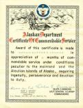a certificate thanking McGinnis for his service