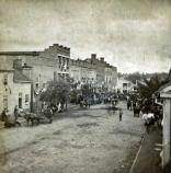 Main Street, Greeneville, TN, taken on the day of Andrew Johnson's funeral.