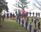The Wreaths Across America service at the Andrew Johnson National Cemetery.