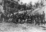 1905 photograph of miners at the Stearns Coal and Lumber Company town of Worley.